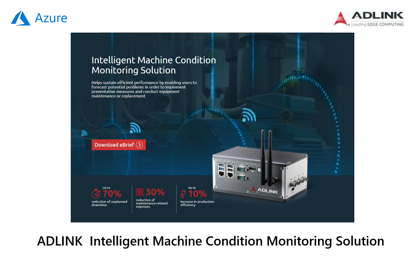 ADLINK MCM-100 Intelligent Machine Condition Monitoring Solution